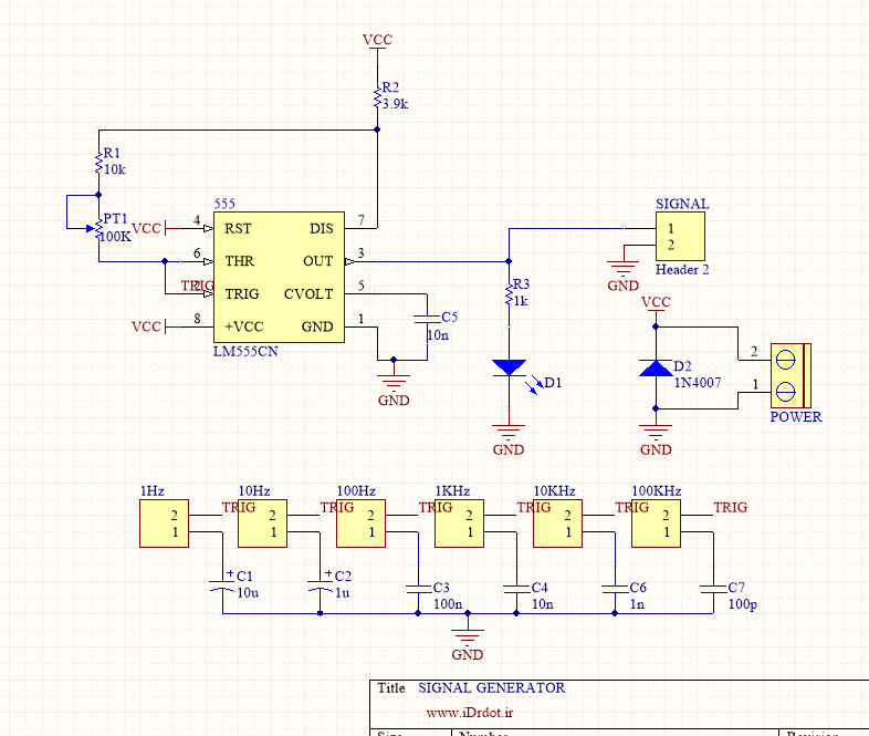 555 Signal Generator Schematic : Basic signal generator with · idr