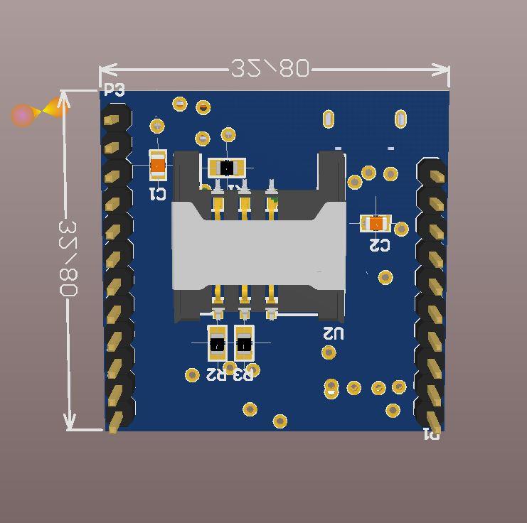 SIM800C schematic & PCB circuit · iDr